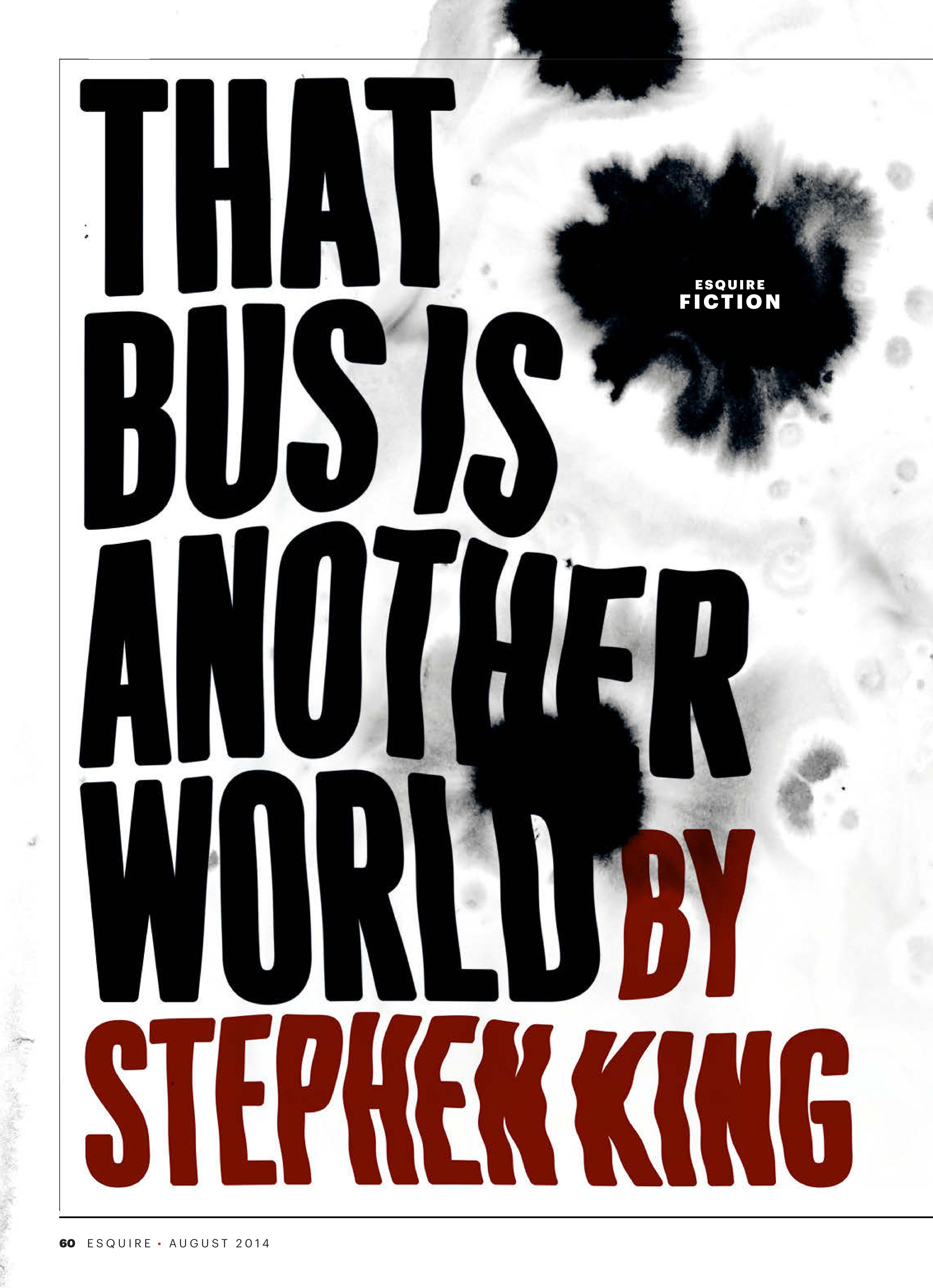 Стивен Кинг: Автобус – это другой мир